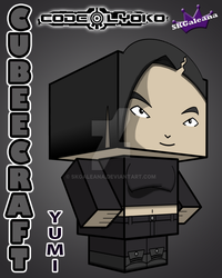 Cubeecraft of Yumi from Code Lyoko 3D by SKGaleana