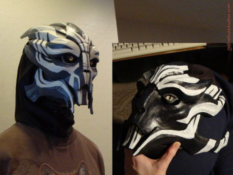 Turian Masks, Male and Female by Nightlyre