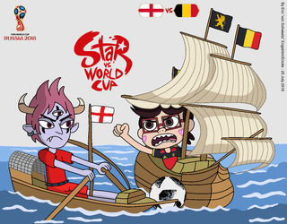 Star vs World Cup 2018: England vs Belgium by EricVonSchweetz