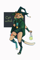 Cat Witch adopt AUCTION [CLOSED] by vapeminers