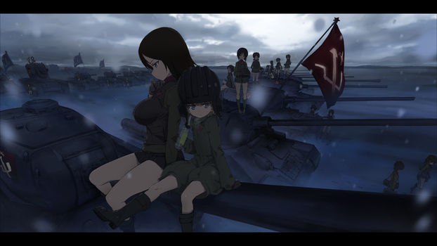 Girls und Panzer pravda high school by MARSHAN-tori