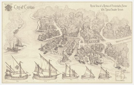 City of Ceirdan, Fischerhafen and Boats by Built4ever