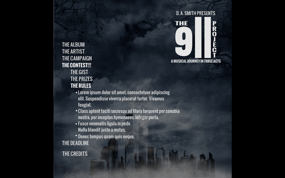 The 9/11 Project Web Site Mockup #5 by Mechatherium