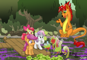 Commission-A Lesson in Carnivorous Plants by LostInTheTrees