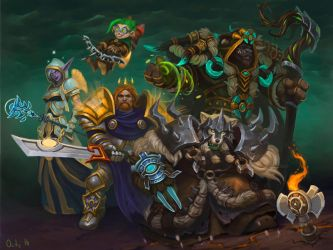 defenders of Azeroth by lowly-owly