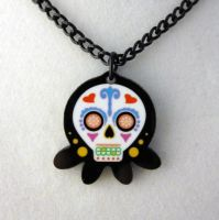Sugar Skull Octopus Necklace 2 by egyptianruin