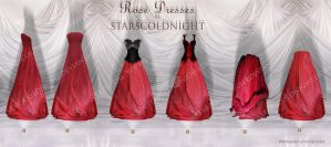Roses Dresses PNG by StarsColdNight