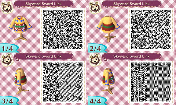 Animal Crossing: New Leaf Skyward Sword Shirt QR by ColumnBoy