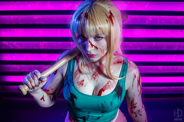Bloody hell (Hotline Miami - The Girlfriend) by NerimoNer