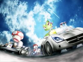 Mariokart vs NFS by darkdoomer
