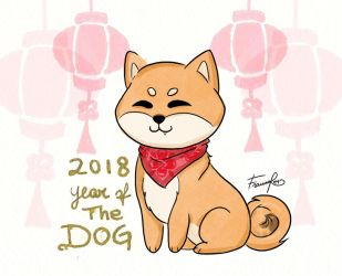 Chinese New Year 2018 - The Dog by FrancesRey