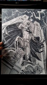 Batman on Gargoyle Commission by caiocacau