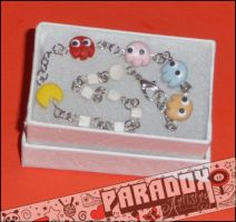 PacMan with Ghosts Bracelet by Paradox-Artistry