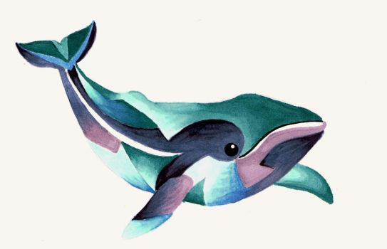 Whale Totem Tattoo by Lamorien