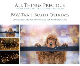 Paw Trait Bokeh Overlays by AllThingsPrecious