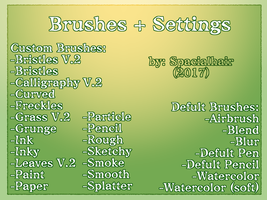 Defult/Custom Brushes/Settings  [MEDIBANG] by SpacialHair
