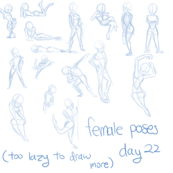 day 22 female poses by OMGProductions