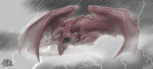 Red Sky Dragon by LycanthropeHeart