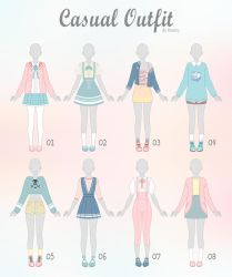 (OPEN 1/8) CASUAL Outfit Adopts 23 by Rosariy