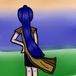 Day 16: Mariam watching a sunset by RogueWarrior869