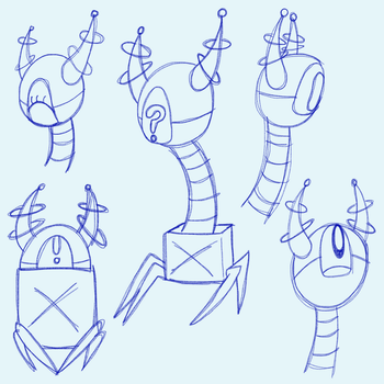 Time to let myself go (Robot Sketches) by RaynaOfTheDead
