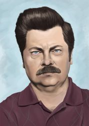 Ron Swanson by JRSly