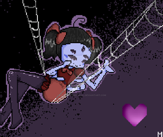 Pixel Art - Muffet (commission) by KiddoDrawsOficial