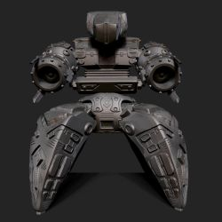 Quardroped Robot Front View by XShadowScaleX