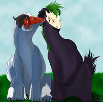 Ananth and Silas by LadyDistort
