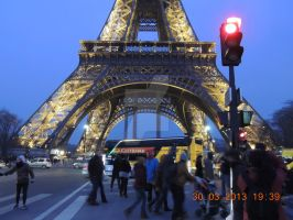 Eiffel Tower at evening by royyour