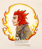 KH: Axel doodle by owopyre