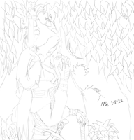 Sidal and the Squirrel thing-QUICK CONCEPT SKETCH by Markus-The-Madman