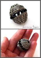 Wire wrapped bead by Faeriedivine