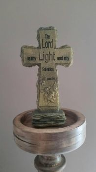Scripture Cross Statue  by OddGarfield