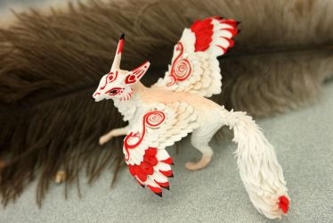 Winged kitsune by hontor