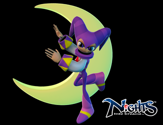 NiGHTs into Dreams 3D (Zbrush) by jperki