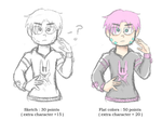 Cheap Commisions : Half Body by N00dleChan