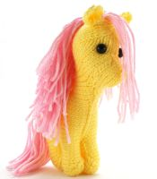 First Small Fluttershy - Knitted Plush by SparkAbsurd