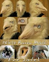 White raven mask NOT FOR SALE SOLD by Crystumes