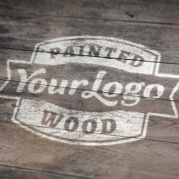 Loot #10: FREE Painted Wood Logo MockUp by graphicloots