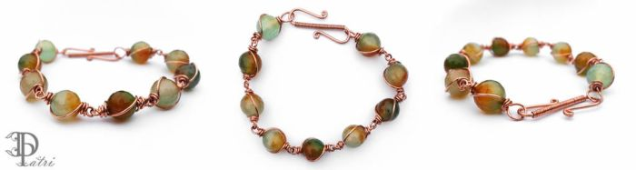 *SOLD* Autumn Inspired Agate Bracelet by DesignByPatri