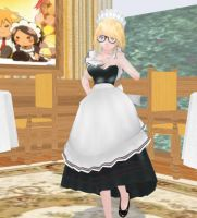 Mmd Little maid by ZeviToast