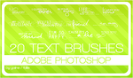20 text brushes by fallie