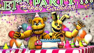 [SFM/FNAF4] A Birthday at Fredbear's! by ShiningKnightmare