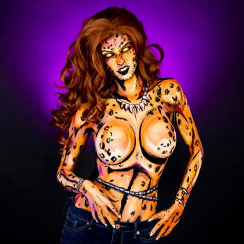 Cheetah Bodypaint by KayPikeFashion