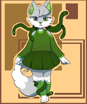 Minty the Cat Commission by aruva-chan