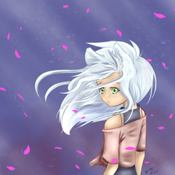 Petals in the wind by LittleSmallSonya