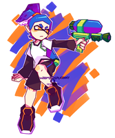 splatoon inkling boy by WoomySplatoony