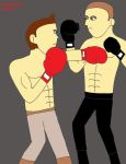 Resident Evil-Piers vs. Jake boxing match 5 by izzyartistic1