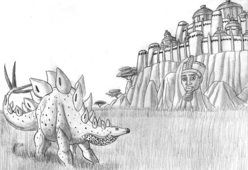 City on the Savanna by TyrannoNinja
